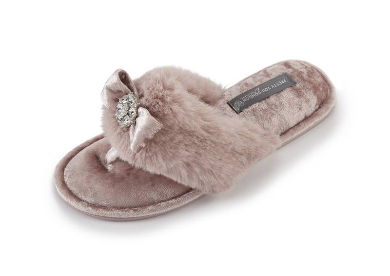 Pretty You  Amelie Pink Slippers
