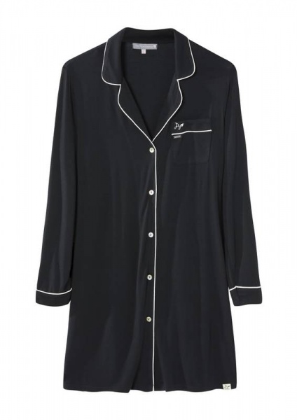 Pretty You  Black Bamboo Nightshirt