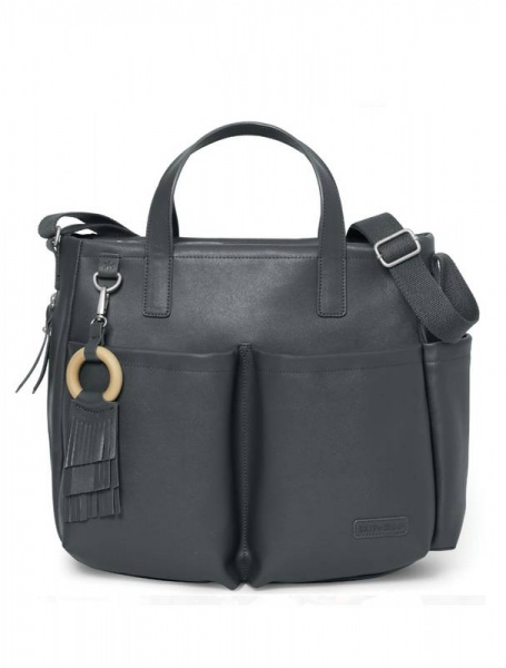 Skip Hop Greenwich Simply Chic tote in Smoke