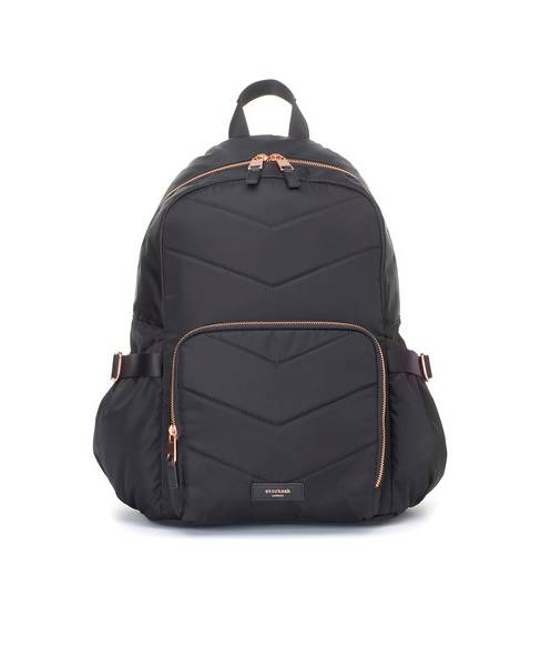 Storksak Hero Quilt Backpack Black