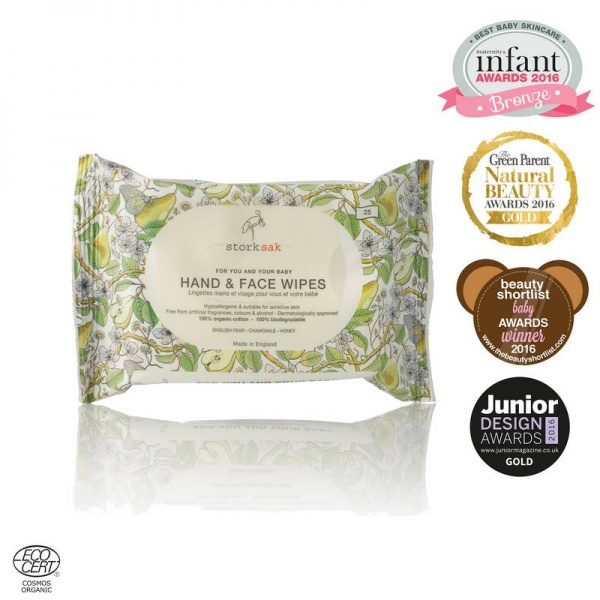 Storksak Organics Hand and Face Wipes