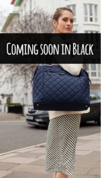 Storksak Stevie Quilt Black Changing bag
