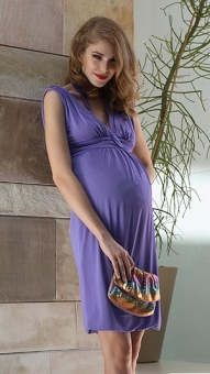 Purple Maternity Dress by Attesa