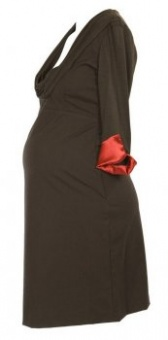 Maternity brown work dress