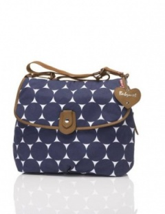 Babymel Satchel Jumbo Dot Changing Bag blue