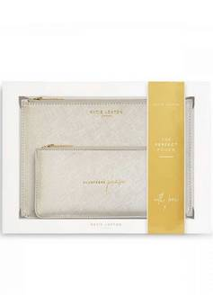 Katie Loxton Perfect Pouch Champagne Please gift set