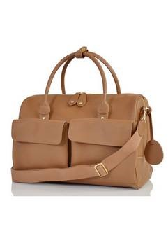 PacaPod Loreto Leather changing bag in Oak