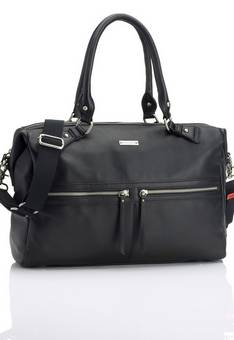 Storksak Caroline Black Leather Changing Bag
