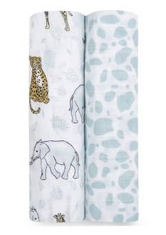 Aden + Anais Jungle 2 pack swaddles