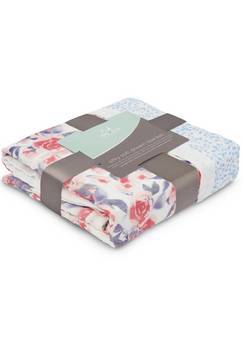 Aden + Anais silky  Dream Blanket Watercolour garden