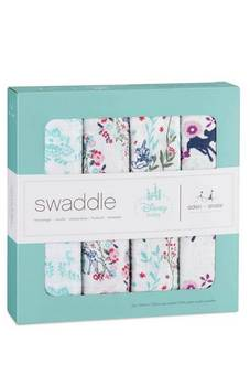 Aden + Anais Disney Bambi 4 pack Swaddle