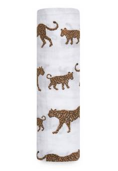Aden + Anais  soft single swaddle Hear me roar