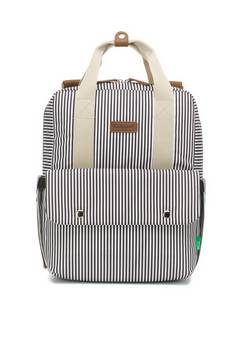 Babymel Georgi Eco Backpack changing bag Navy Stripe