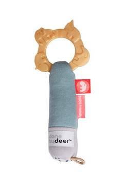 Done by Deer Tiny teething rattle Deer