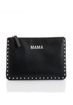 Jem + Bea Mama Clutch Leather Silver studs