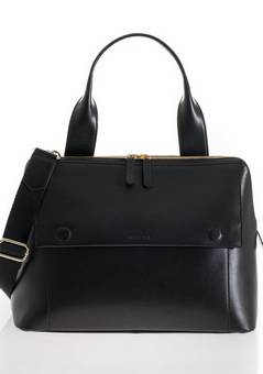 Jem + Bea Odille Satchel Black Changing bag