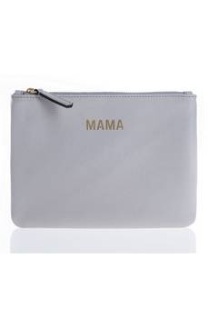 Jem + Bea Mama Clutch in Grey/White