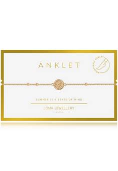 Joma Jewellery Gold Ankle bracelet