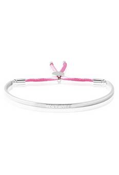 Joma Jewellery message bangle in pink