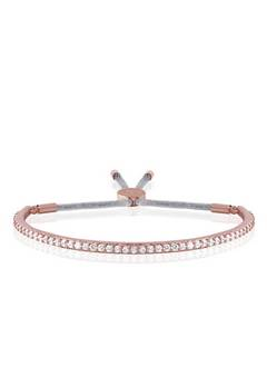 Joma Jewellery Rose Gold crystal silver Bangle