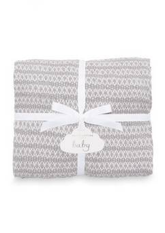 Katie Loxton Cotton Baby Grey Blanket