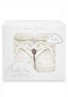 Katie Loxton Knitted Baby Boots White