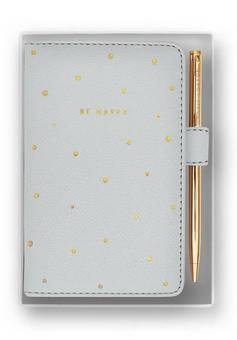 Katie Loxton Mini Notebook and Pen Be Happy
