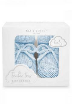 Katie Loxton Knitted Baby Boots Blue