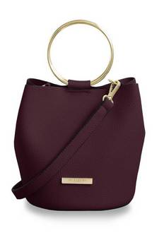 Katie Loxton Burgundy Suki bucket bag