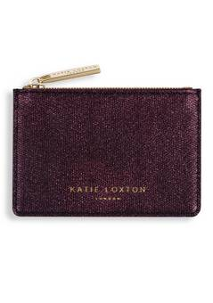 Katie Loxton Burgundy  Shimmer card holders