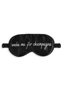 Katie Loxton Black Wake Me for Champagne Eye Mask