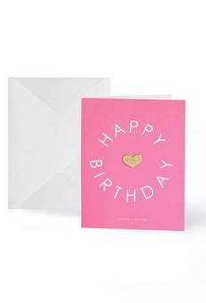 Katie Loxton Happy Birthday Gold badge card