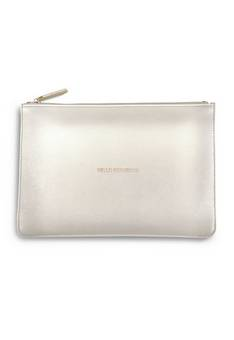 Katie Loxton Perfect Pouch in Metallic White