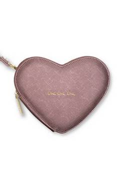 Katie Loxton Love Heart Pouch Rose Pewter