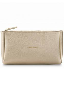 Katie Loxton Metallic Make-up bag Gold