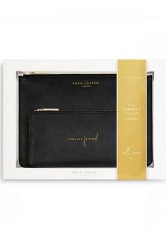 Katie Loxton Perfect Pouch Fabulous Friend Black gift set