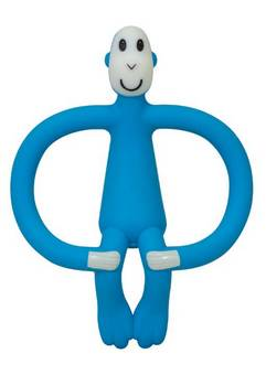 Matchstick Monkey Teething toy in Blue