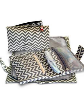 Melobaby in Chevron navy Changing wallet