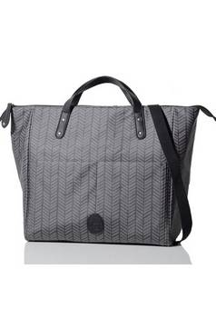 PacaPod  Saunton Changing Bag in Charcoal Herringbone
