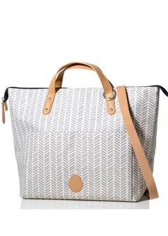 PacaPod  Saunton Changing Bag Dove  Herringbone