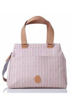 Pacapod Richmond Changing bag in  Dusky Pink Herringbone