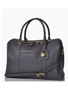 PacaPod Firenze Leather Changing Bag in Pewter