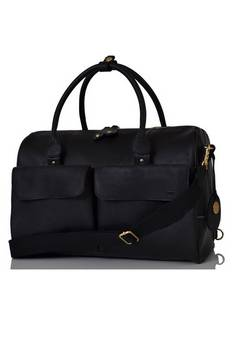 PacaPod Loreto Leather changing bag in Black