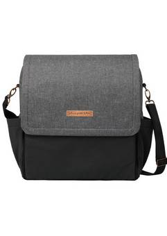 Petunia Pickle Bottom  Boxy Backpack in Graphite and Black