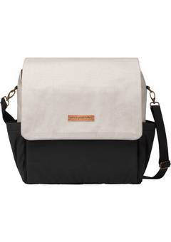 Petunia Pickle Bottom  Boxy Backpack in Birch and Black