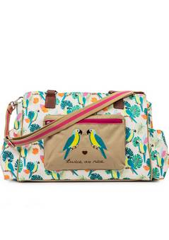 Pink Lining Twice as nice Changing bag Parrot