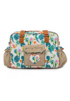 Pink Lining Yummy Mummy Changing bag Cream Parrot