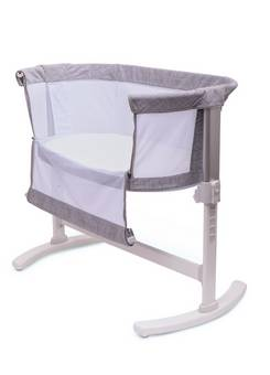 Purflo Breathable Bedside Crib Grey
