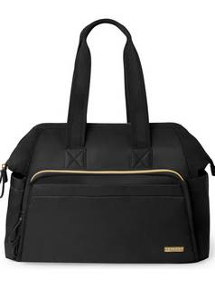 Skip Hop Mainframe wide Black Satchel