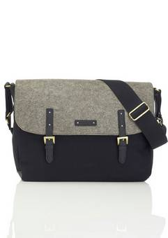 Storksak Ashley Black and Grey Changing Bag